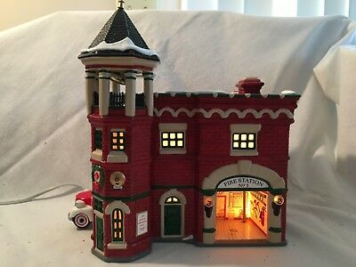 Dept. 56 Snow Village Fire Station #3