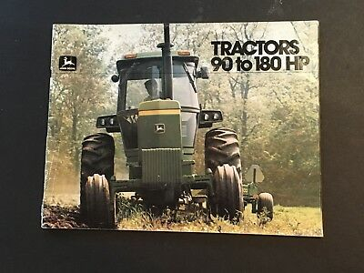 A JOHN DEERE Tractor BROCHURE 90 to 180 HP Catalog Advertisement 1979