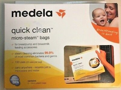 Medela Quick Clean Micro Steam Bags - 1 Box of 5 Bags