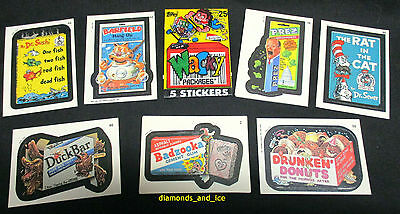 Wacky Packages Sticker Cards – First Issue, 22 Cards (Topps 1991), NrMint to Min