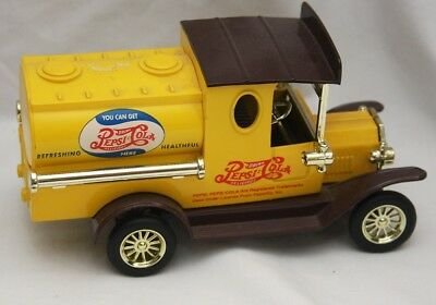 Golden Old Time Pepsi Cola Tanker Delivery Truck. Yellow and Brown/Gold Accents