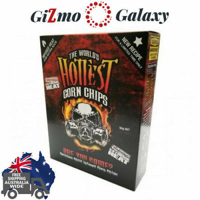 2x The World's Hottest Corn Chips Carolina Reaper Chilli Not Paqui Chip 2 Boxes