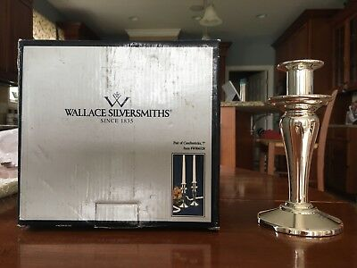 wallace silversmith candlesticks 7 inch silverplated