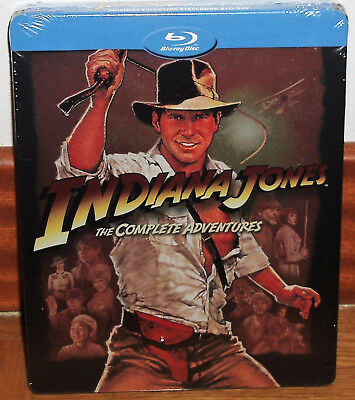 Indiana Jones The Aventuras Complete 5 Blu-Ray New Steelbook Spanish R2