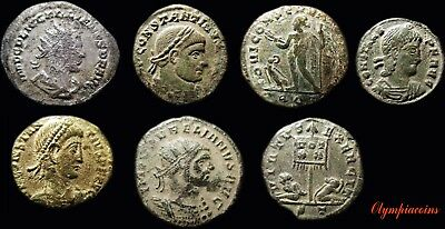 Lot Of 7 Very Fine Ancient Roman Bronze Coins