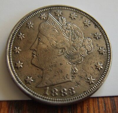 1883 Liberty Nickel V Nickel WITH CENTS Variety Nice Key Date US Type Coin