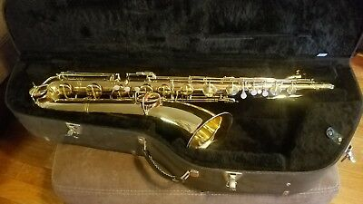 **L@@K*** pan american bari saxophone made by elkhart great condition! **L@@K**