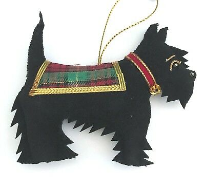 St Nicolas SCOTLAND Scottish Black SCOTTIE DOG Christmas Ornament NWT New