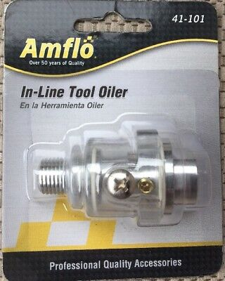 NEW Amflo #41-101 In-Line Tool Oiler - 150 PSI - Plews & Edelmann