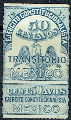 Mexico. 1913.revenue Stamp Coat Of Arms With Coupon H/cat. As Is See Scan