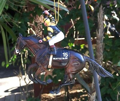 Breyer Horse Xmas Holiday Ornament Seattle Slew Retired Very Good SEE PHOTOS