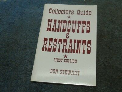 1994 HANDCUFF AND RESTRAINT COLLECTOR'S GUIDE. No padlock lock. Price Guide. n/r