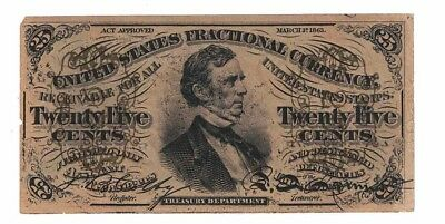 United States Fractional Currency. Third issue. 25 cents Fr 1296