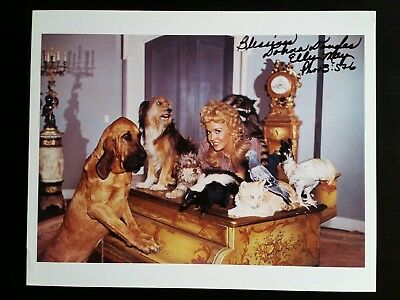 DONNA DOUGLAS Signed Picture Beverly Hillbillies Elly May 90's Autograph