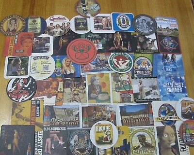 45 Beer Gals Beer Coasters! Women Of Beer! Bottoms Up!!!!!!!!!!!