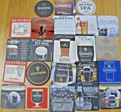 40 Guinness Beer Coasters!! 15+ Individual Coasters W/ Dupes! Get Your Irish Up!