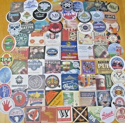 75 New Western US Microbrew & Craft Beer Coasters ! No Dupes!