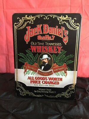 Jack Daniels Old Time Tennessee Old No 7 Whisky Tin Vintage