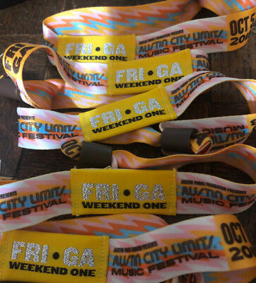 Austin City Limits Festival ACL Tickets Wristbands - FRIDAY OCT 5 - Weekend 1