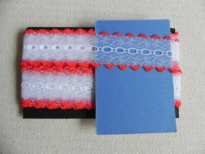Card of New Knit Lace - Red