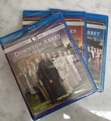 Sealed PBS Masterpiece Classic DOWNTON ABBEY Seasons 1 - 3 Blu-ray DVD - NEW