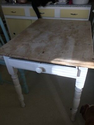 victorian pine kitchen table
