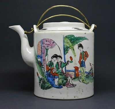 Antique Chinese Republic Period Porcelain Teapot ~ 6 Inches Tall ~