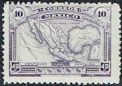 MEXICO. 1917.40c.VIOLET MAP. MLH AS IS SEE SCAN