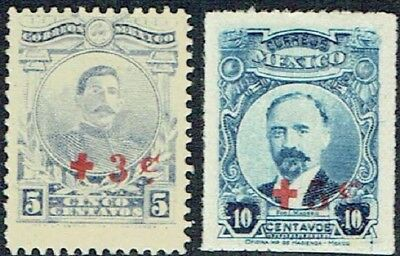 Mexico. 1919. Issues Of 1917. Opt. Surcharged Boths Mlh As Is See Scan