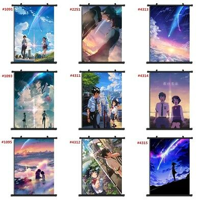 "Anime kimi no na wa Your Name manga Wall Scroll Poster cosplay8""x11"" A"