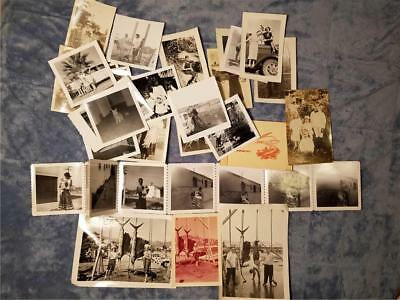 Vintage 1950s Lot of 45+ Interesting Black & White Photos Plus Two Old Postcards