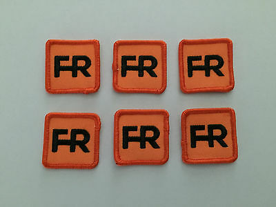 "6 fr patches - 1 1/2"" square.  Iron on or sew on."