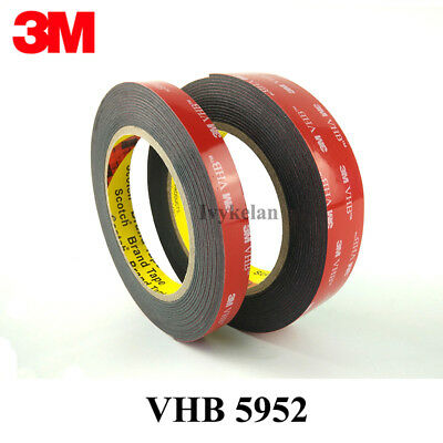3M VHB 5952 black Double-sided Acrylic Foam Tape Automotive length 3 Meter (Roll