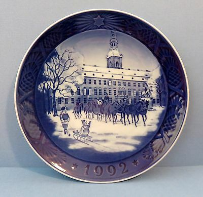 Royal Copenhagen Ltd Edition Christmas Plate:1992 The Royal Coach w/ Box & COA