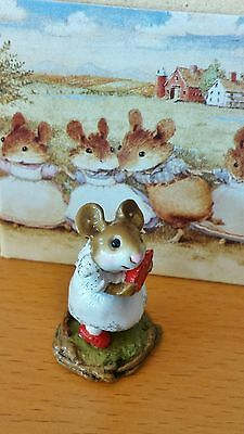 Wee Forest Folk M-080b I'M YOURS White dress/red shoes Mint
