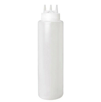 Sauce Bottle 3 Nozzle Triple Dispenser 1000ml 36oz Vogue Multi Spout Squeeze