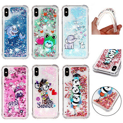 Soft Hybrid Glitter Quicksand Shockproof TPU Case Cover For iPhone 8 X Xs Max XR