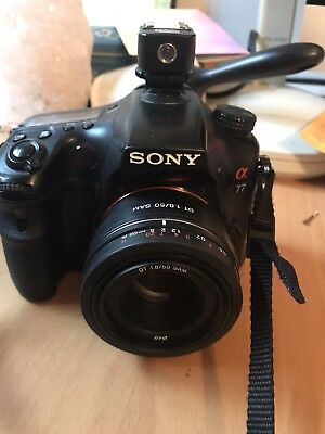 Sony Alpha SLT-A77 24.3MP Digital SLR Camera - Black (Body Only) Old model