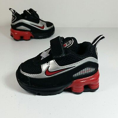1e3222f0ab1a8c Nike Shox Turbo Toddler Boy Athletic Sneaker Shoes Black Red Size 2C