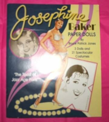 "JOSEPHINE BAKER ""THE TOAST OF JAZZ AGE PARIS"" Paper Doll 2011 UNCUT Book/3 Dolls"