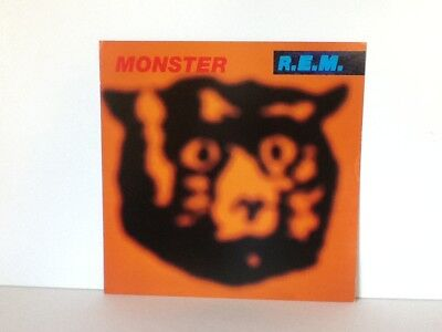 "R.EM R E M Monster Double Sided Record Store Promo Flat Poster 12"" X 12"""