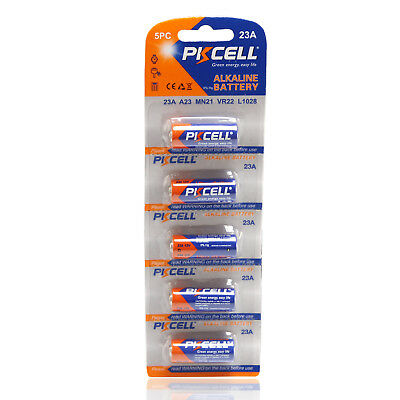 PKCELL Alkaline Battery 12V 23A Replace A23 MN21 23GA MN21 23AE VR22 L1028