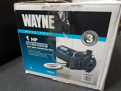 Wayne CWS100 - 1 HP Cast Iron Convertible Well Jet Pump (FREE SHIPPING)