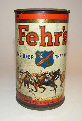 Vintage Fehr's Beer Metal Cup Louisville Kentucky KY Fehr Fehrs Rusty Gold