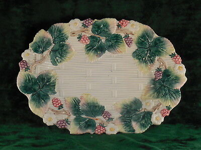 Fitz & Floyd 1990 Strawberry & woven white oval Plate