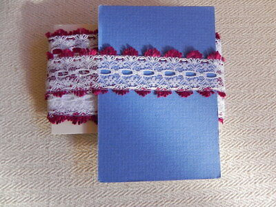 Card of New Knit Lace - Burgundy