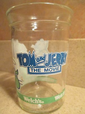 Welch's Glass Jelly Jar Collector Series Tom & Jerry Runaway The Movie 1993