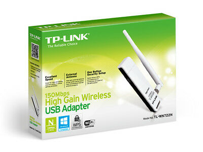 Tp-link Usb Adapter: 150m Wireless Lite-n High Gain With Detachable Antenna Tl-w