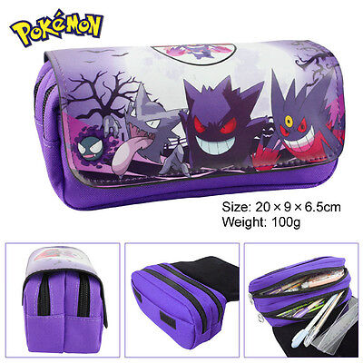 Pokemon Charizard zipper Pencil Case pen bag Canvas Make-Up Bag Stationery Case