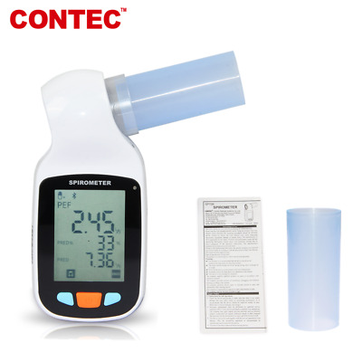 Digital Spirometer PEF FEFV1 FEF Lung Volume Device Software CE Clinic Home
